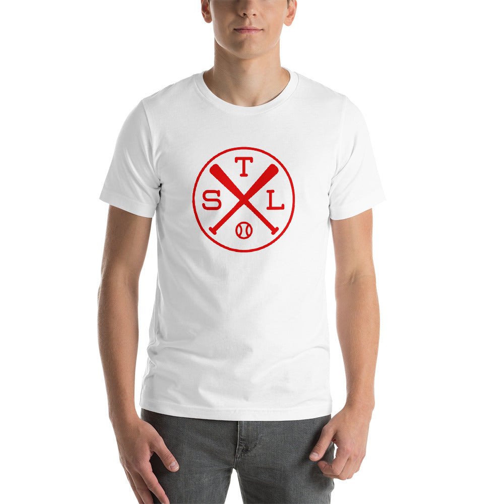 STL Crossed Baseball Bats T-Shirt