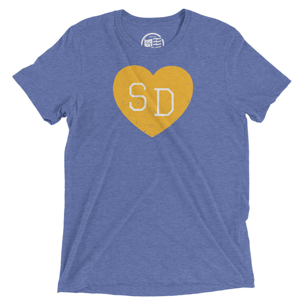 San Diego Heart T-Shirt - Citizen Threads Apparel Co. - 1