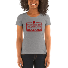 There Is No Place Like Alabama Triblend Womens T-Shirt
