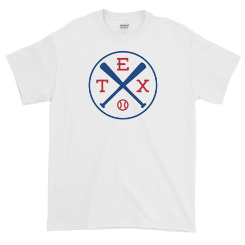 Texas Crossed Baseball Bats T-Shirt