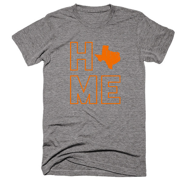 Texas Home T-Shirt | Orange - Citizen Threads Apparel Co.