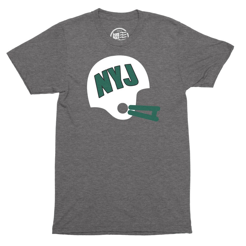 NYJ Helmet T-Shirt - Citizen Threads Apparel Co.