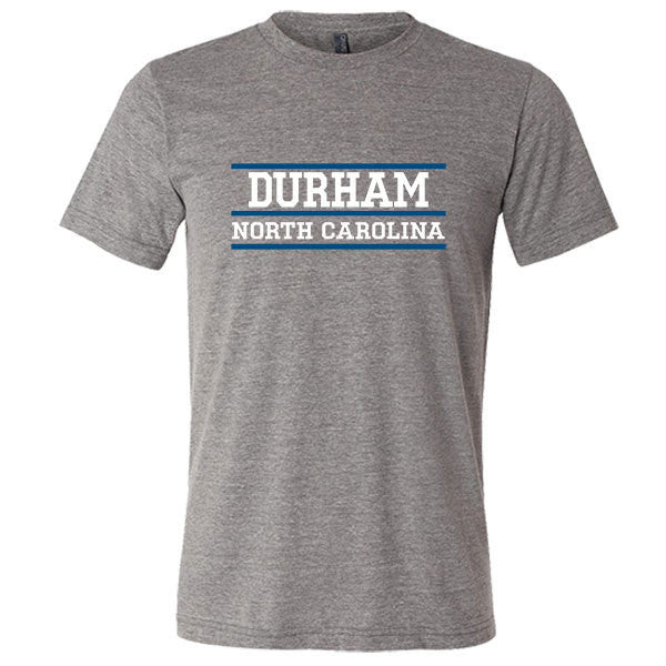 Durham North Carolina Tri-blend T-shirt - Citizen Threads Apparel Co.