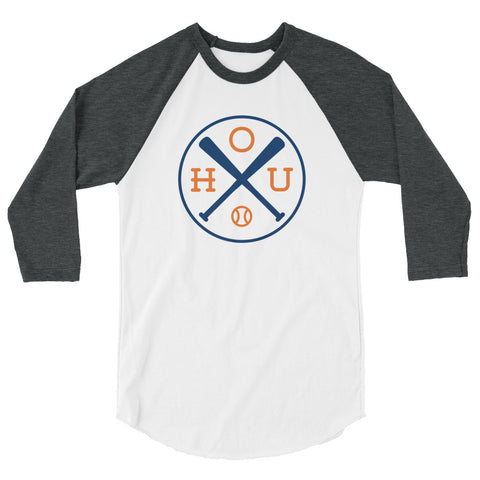 Houston Baseball Raglan 3/4 Sleeve Shirt