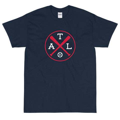 Atlanta Crossed Bats Baseball T-Shirt