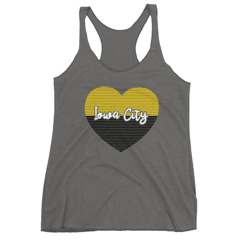 Women's Iowa City Heart Racerback Tank
