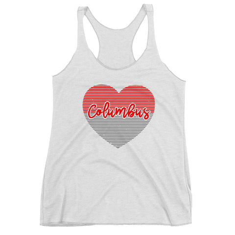 Women's Columbus Ohio Heart Racerback Tank