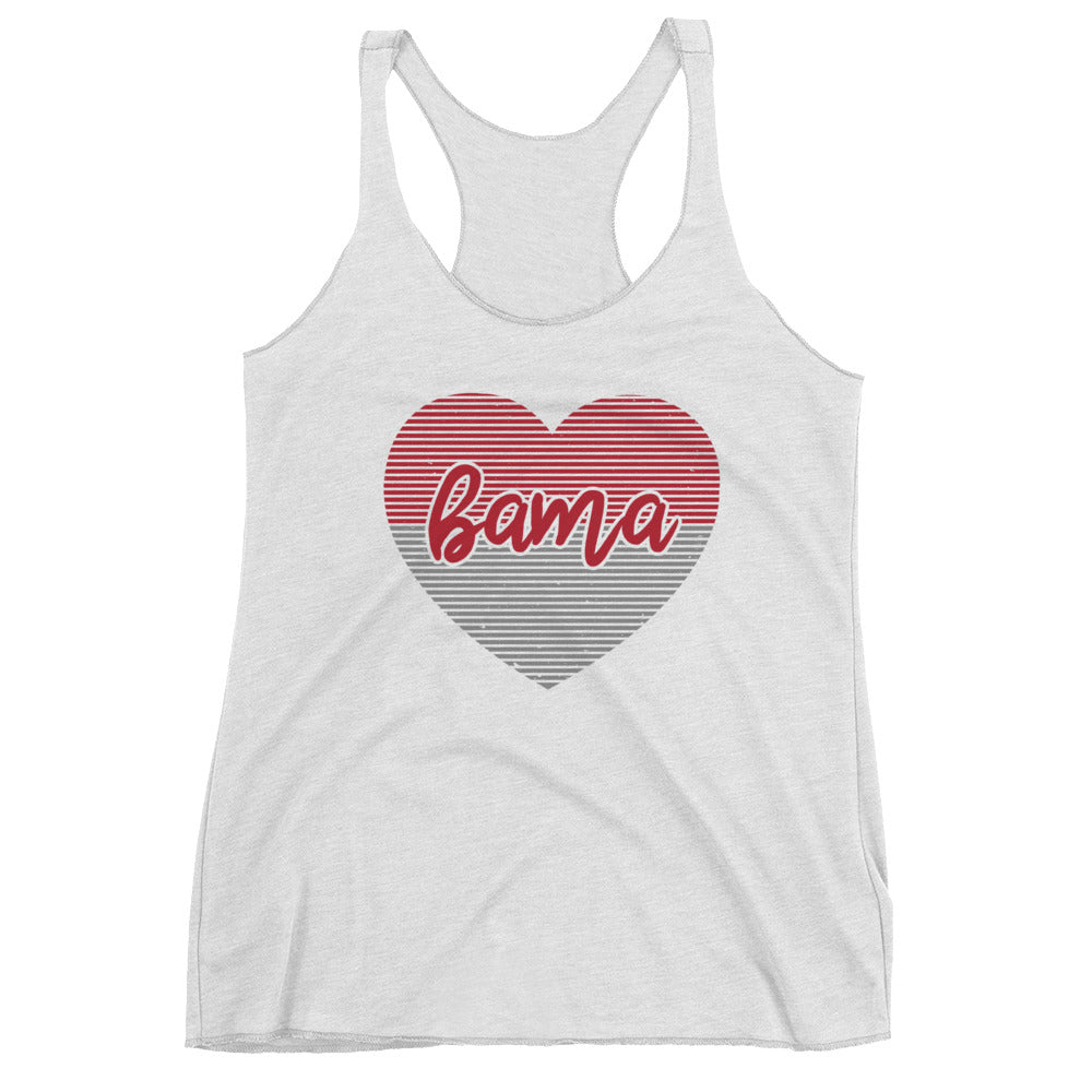 Women's Alabama Heart Racerback Tank