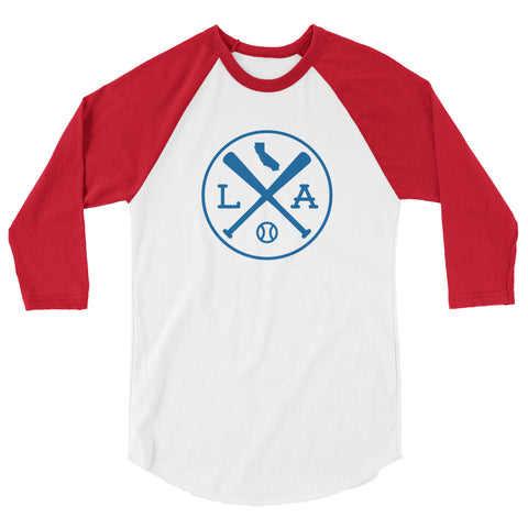 LA Baseball Raglan 3/4 Sleeve Shirt