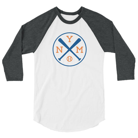 New York NYM Baseball 3/4 Sleeve Raglan