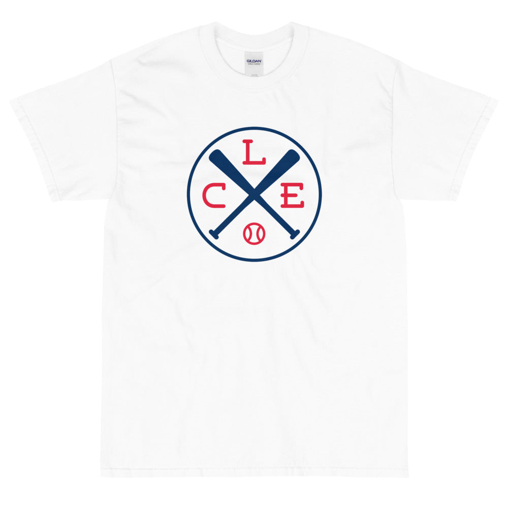 Cleveland Baseball T-Shirt CLE Crossed Baseball Bats