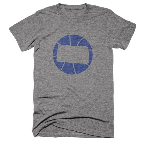 Kansas Basketball State T-Shirt - Citizen Threads Apparel Co.