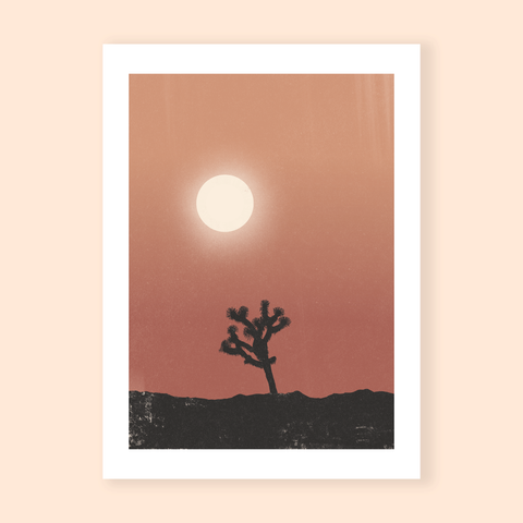 Art print Moon & Tree