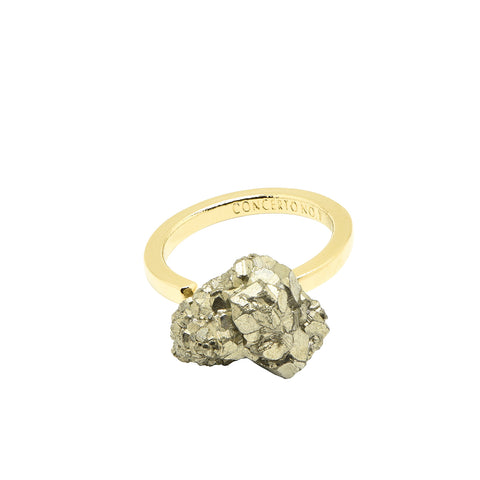 Bague Side Pyrite Druzi