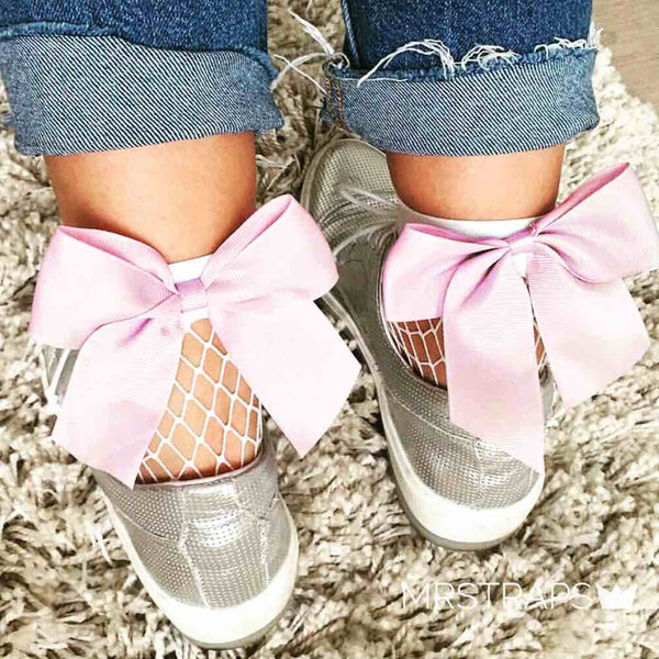 Mesh socks - rose ribbon 🎀