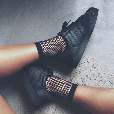 Mesh socks - black
