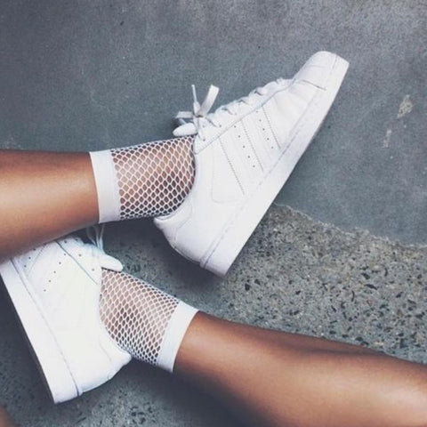 Mesh socks - white