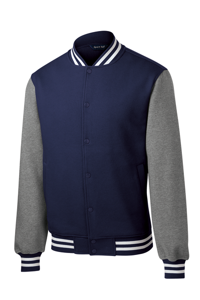 Vintage Fleece Letterman Jacket - More Colors Available