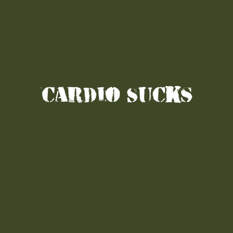 Cardio Sucks - City Green T-Shirt for Men (sq tile) - Really Stupid Gifts