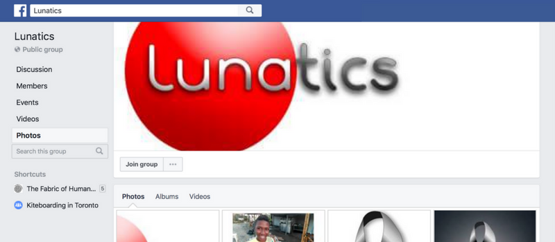 Lunatics Facebook group
