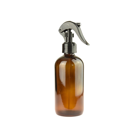125ml Amber Glass Bottle with Black Spray Trigger