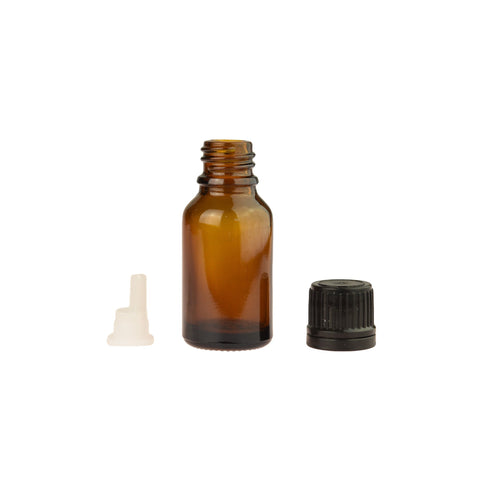 5ml Amber Glass Dropper Bottle with orifice screw tops (pkg of 6)