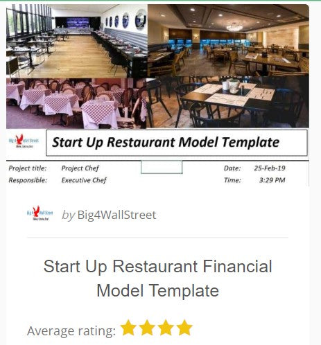 Restaurant Business Financial Model