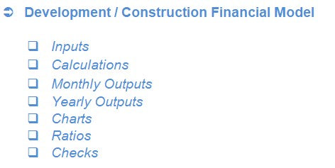 Construction / Development Financial Model
