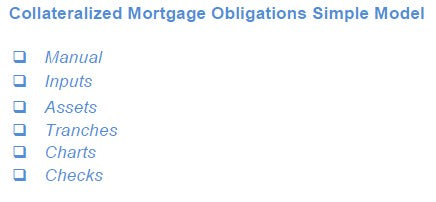 Collateralized Mortgage Obligations Model