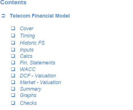 Telecoms Financial Model
