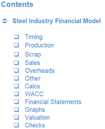 Steel Industry Financial Model