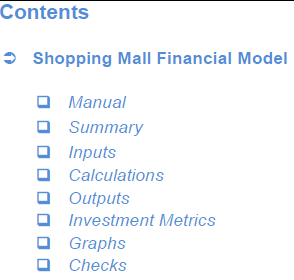 Shopping Mall Financial Model