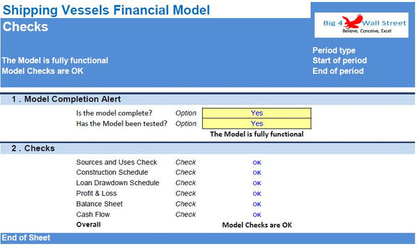 Shipping Vessel's Financial Model