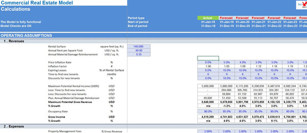 Commercial Real Estate Excel Model Template
