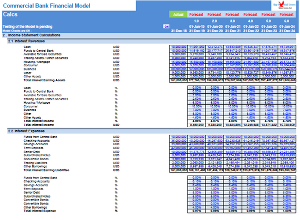 Commercial Bank Financial Model