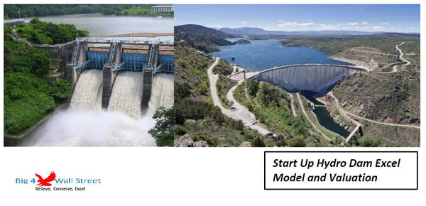 Start Up Hydro Dam Excel Model and Valuation