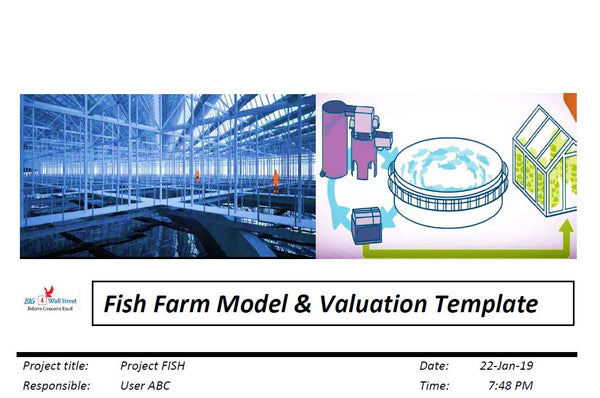 Land Based Fish Farm Model & Valuation Excel Template (Imperial System)