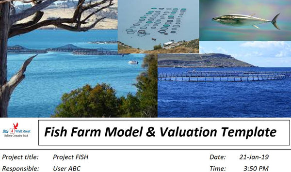 Offshore Fish Farm Start-Up Model & Valuation Excel Template (Metric)