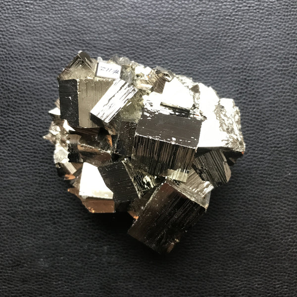 peruvian pyrite and quartz cluster | #112