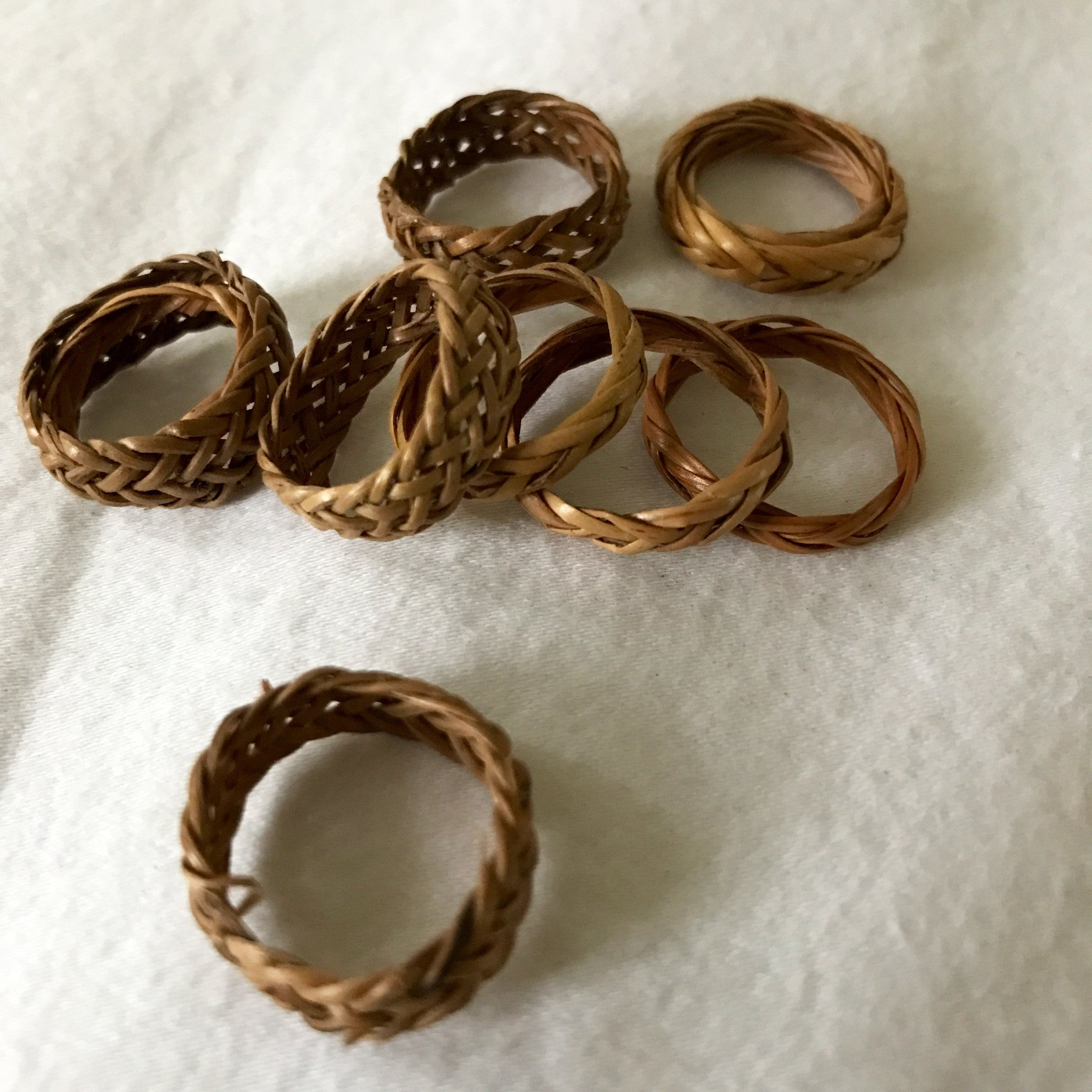 woven rings from bali