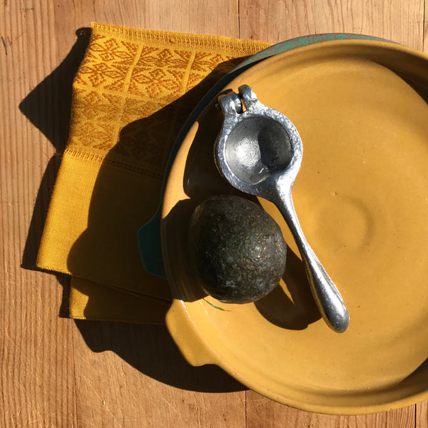 cuban serving dish | mustard | medium