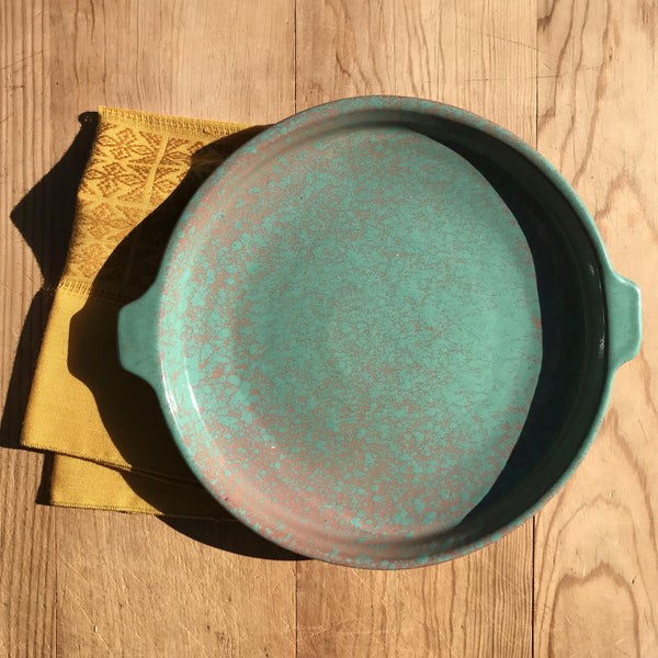 cuban serving dish | turquoise | large