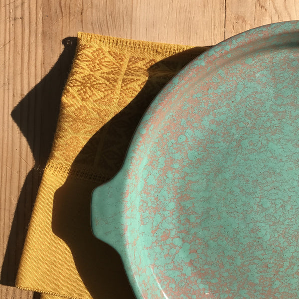 cuban serving dish | turquoise | medium