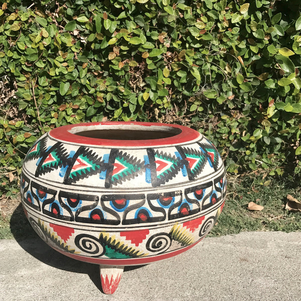hand painted southwest pot