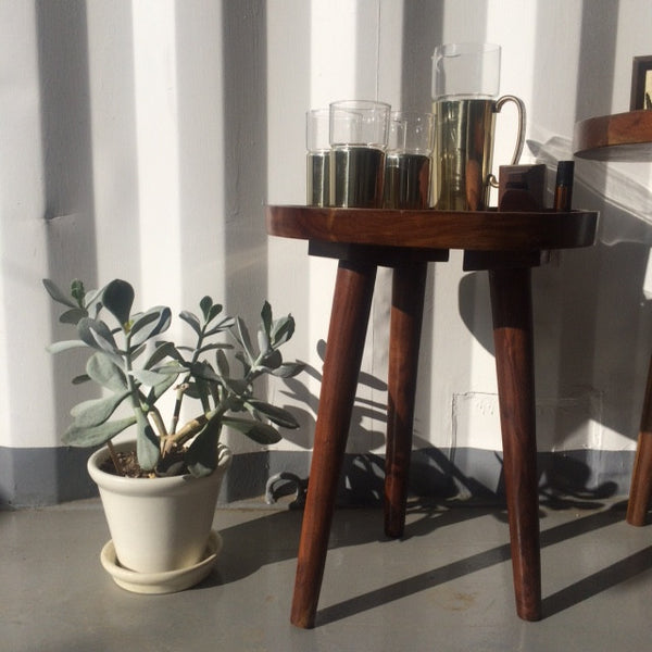 small wooden nesting table