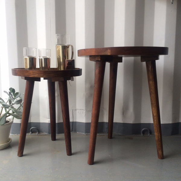 large wooden nesting table