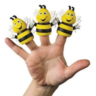 12 Bee Finger Puppets