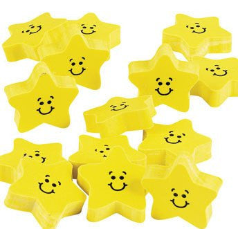 24 Smile Star Erasers