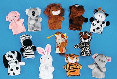 12 Animal Finger Puppets