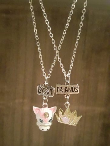 Unicorn & Crown BFF Necklaces (x2)